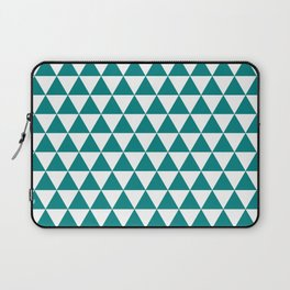 Triangles (Teal/White) Laptop Sleeve