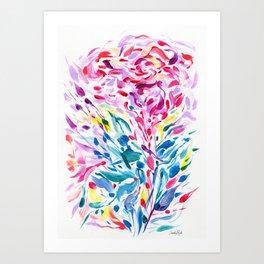 Abstract Roses 2 Art Print