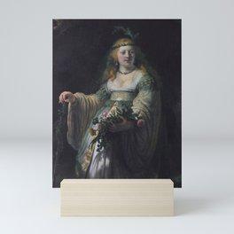 Saskia van Uylenburgh in Arcadian Costume Mini Art Print
