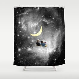 Moon Swing Shower Curtain