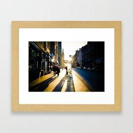 Royal Mile Sunset Framed Art Print