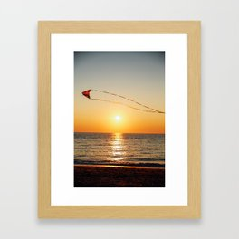 Beach Kite Framed Art Print