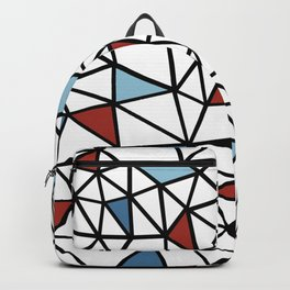 Segment Red and Blue Backpack