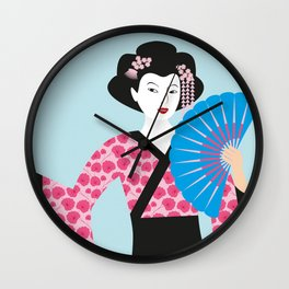 Geisha #2 Wall Clock