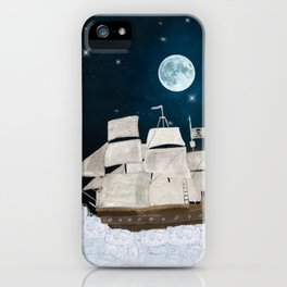 the pirate ghost ship iPhone Case