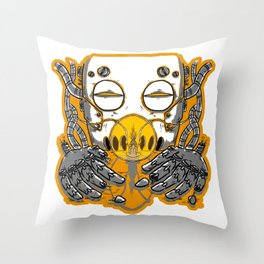 Sci-phon Throw Pillow