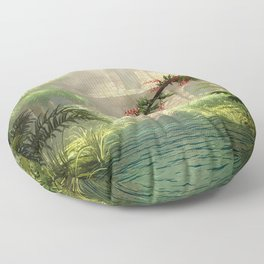 Lost City in the jungle Floor Pillow