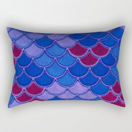 Colorful Dragon Scales Rectangular Pillow