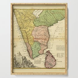Southern India Map (1733) Serving Tray