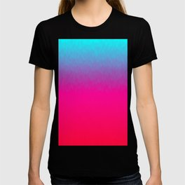 Blue purple and pink ombre flames T-shirt