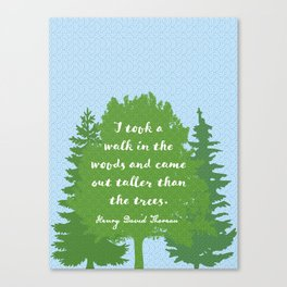 Walk in the Woods, Thoreau Canvas Print