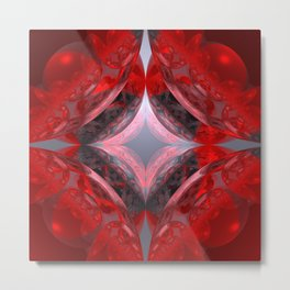 WADA-fractal red Metal Print