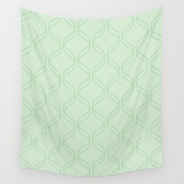 Double Helix - Light Greens #769 Wall Tapestry