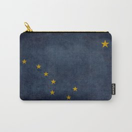 Alaskan state flag - Grungy version  Carry-All Pouch