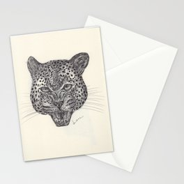 BALLPEN LEOPARD  Stationery Cards