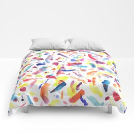 Abstract Painterly Brushstrokes Comforters