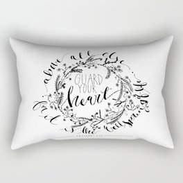 Proverbs 4:23 Rectangular Pillow