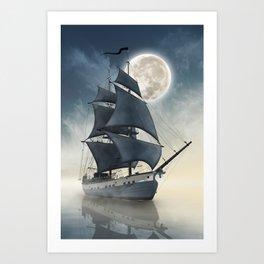 Dragons of the seas - The spirit of the pirate ship - Sailing seven seas Art Print
