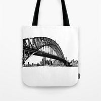 sydney Tote Bags featuring sydney by Jette Geis