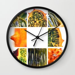 Kiwano Melon Froot Shoot Wall Clock