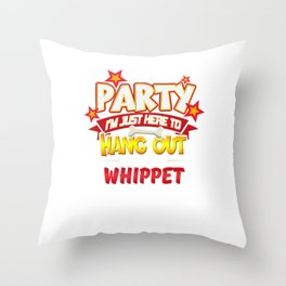 Whippet Dog Party Throw Pillow