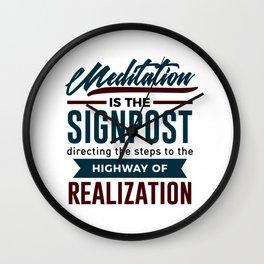 Meditation To Realization Wall Clock