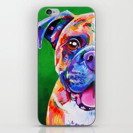 Boxer Dog Bright Painting iPhone Skin