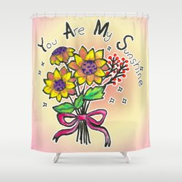 Sunflower Bouquet - you are my sunshine Shower Curtain