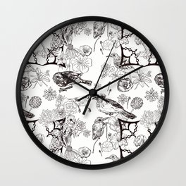 Floral Interlude Wall Clock