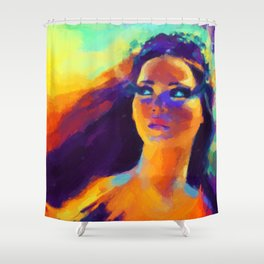 The Girl On Fire Shower Curtain