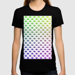 Heart Love Ombre Rainbow Pattern T-shirt
