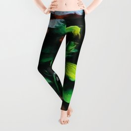African American Masterpiece Portrait of a West African Young Woman floral painting Leggings