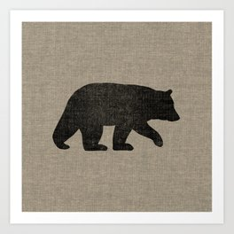 Black Bear Silhouette Art Print