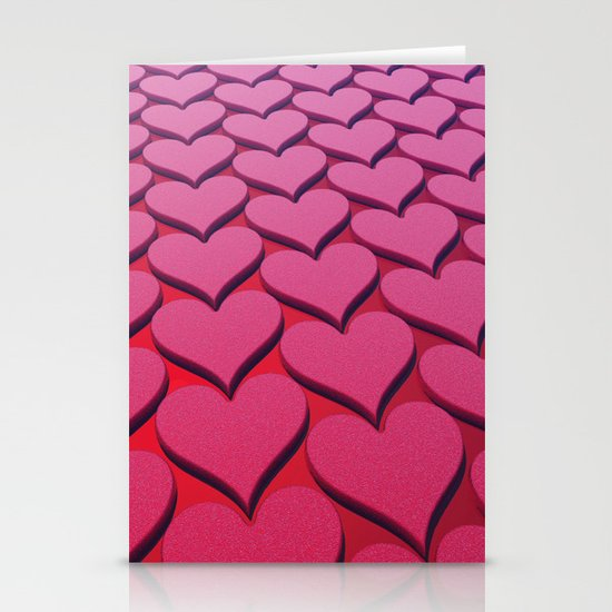 Textured 3D Heart Pattern Stationery Cards