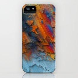 Diagonal Rainbow Redux iPhone Case