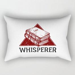 Law Whisperer Lawyer Student Vintage Rectangular Pillow