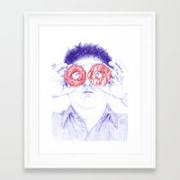 hero Framed Art Prints featuring Hero by Bomburo
