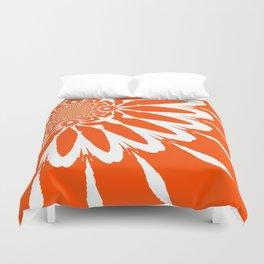The Modern Flower Orange Duvet Cover