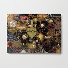 STEAMPUNK COLLAGE No. 1 Metal Print