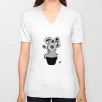 van gogh V-neck T-shirts featuring Van Gogh by Henn Kim