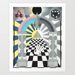 Rabbit Hole: Going Down Art Print