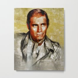 Charlton Heston by MB Metal Print