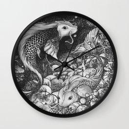 Koi Fish - The Life Cicle Wall Clock
