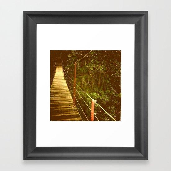 Bridge to No Where Framed Art Print