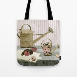 Watering Cans and Apples Tote Bag