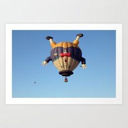 Humpty Dumpty Hot Air Balloon Art Print
