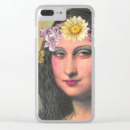 Hippie Gioconda Clear iPhone Case