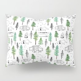 Camping and Trees Pillow Sham