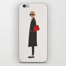 New Yorker, fashion illustration, fashion, girly, art print iPhone Skin