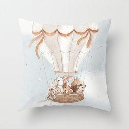 Little Explorers Throw Pillow